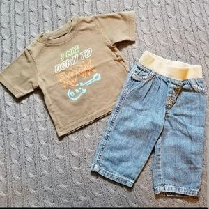 Born to rock outfit 6-9 months
